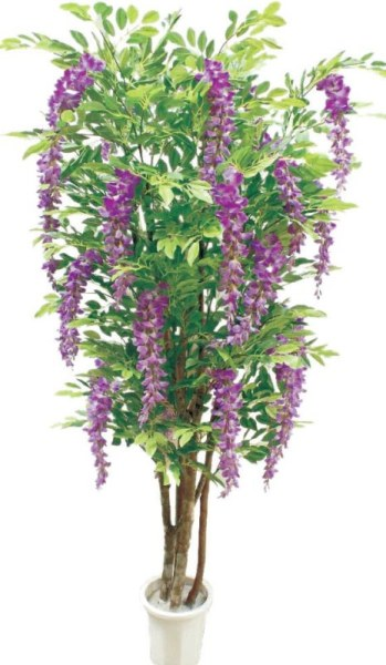人造紫藤树盆景